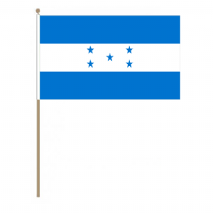 Honduras Country Hand Flag, large.